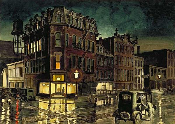 Rainy Night by Charles Burchfield