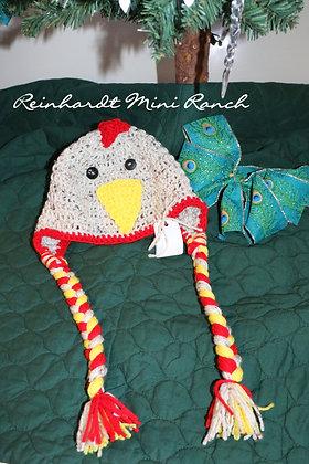Crocheted Chicken Hat