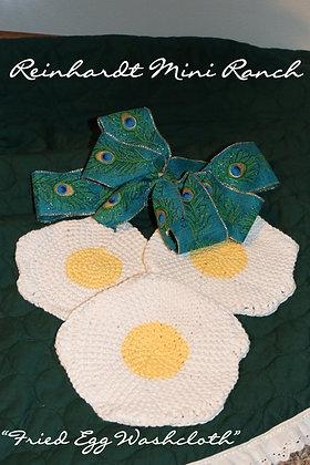 Crocheted Fried Egg Washcloth