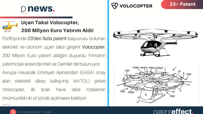Uçan Taksi Volocopter,  200 Milyon Euro Yatırım Aldı!