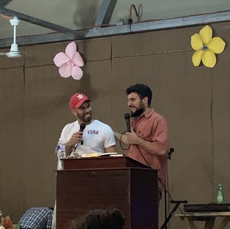 2019 Summer Trip Honduras Pastor Mike Flores Preaching in Castanos