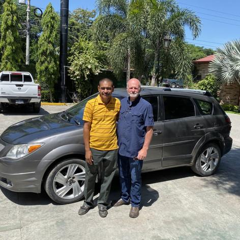 2019 October Trip Pastor Eduardo's new car