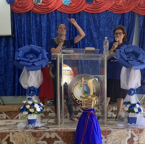 2019 Summer Trip Honduras Sarah Cannon Speaking at the Women's Conference in Guaymetas