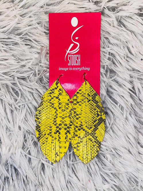 Stoosh Earrings - Yellow Leaf