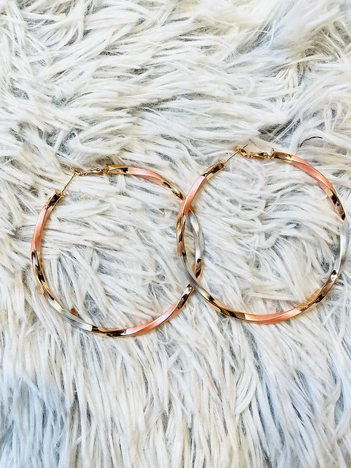 Silver & Rose Gold Plated Hoops