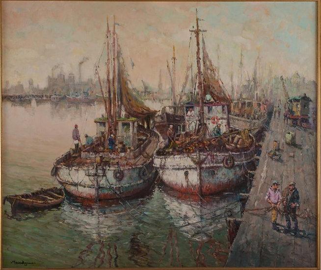 """BAIMA, MARIO """"Barcas pesqueras"""""""