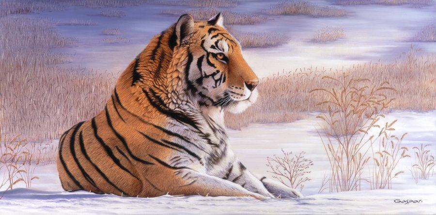 """GASPAR, SERGIO """"Tigre sobre la nieve"""""""