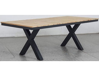 Switch Natural Teak Dining Table with X LEG