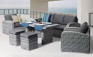 Miami 6 pcs Zen White Outdoor Sofa Set buy online qld au