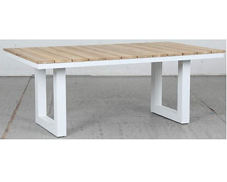 Switch Natural Teak Dining Table with U