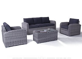 Miami Zen White Outdoor Sofa Set (GCV1306V-4C) buy online qld aus
