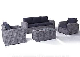 Miami Zen White Outdoor Sofa Set (GCV1306V-4C) buy online qld aus