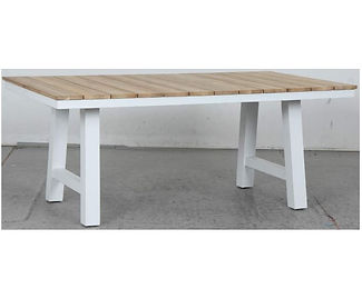 Switch Natural Teak Dining Table with Trestle LEG