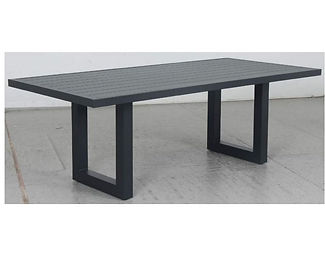 Switch Aluminium Dining Table with U Leg