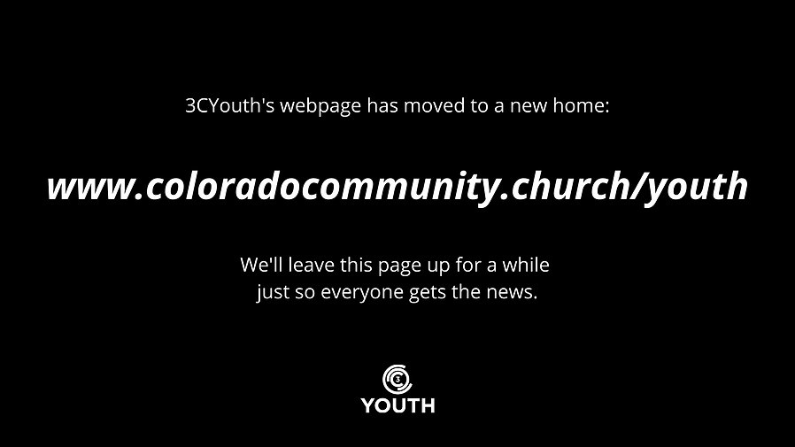 3CYouth's webpage has moved to a new hom