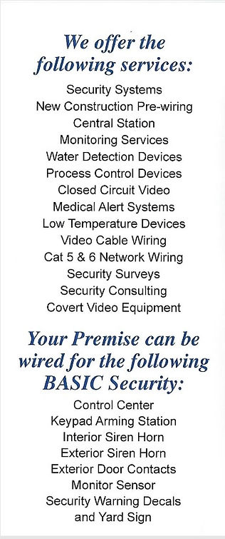 home security info