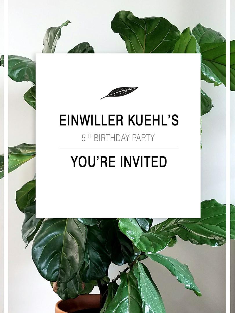 5 year invite