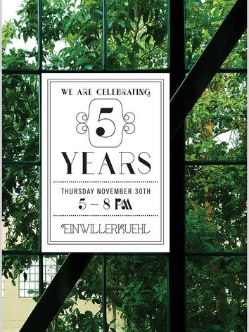 5 Years Invite