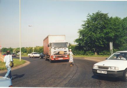 blocking a truck