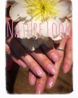 Rose/natürliche Nägel