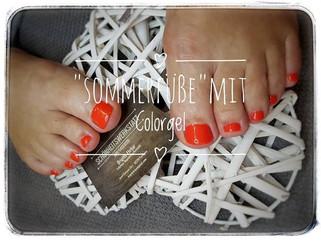 Füße mit Colorgel