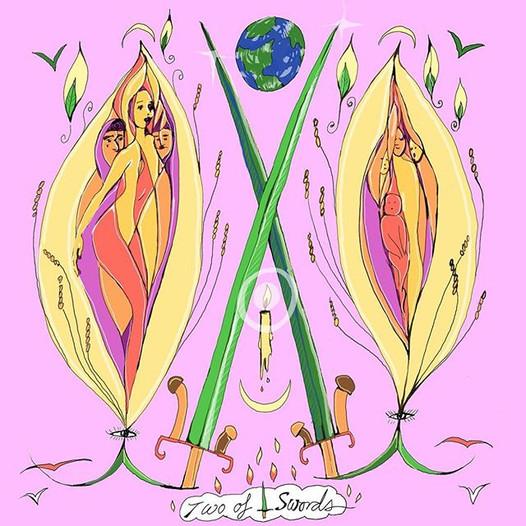 Mother Tarot Deck: Two of Swords