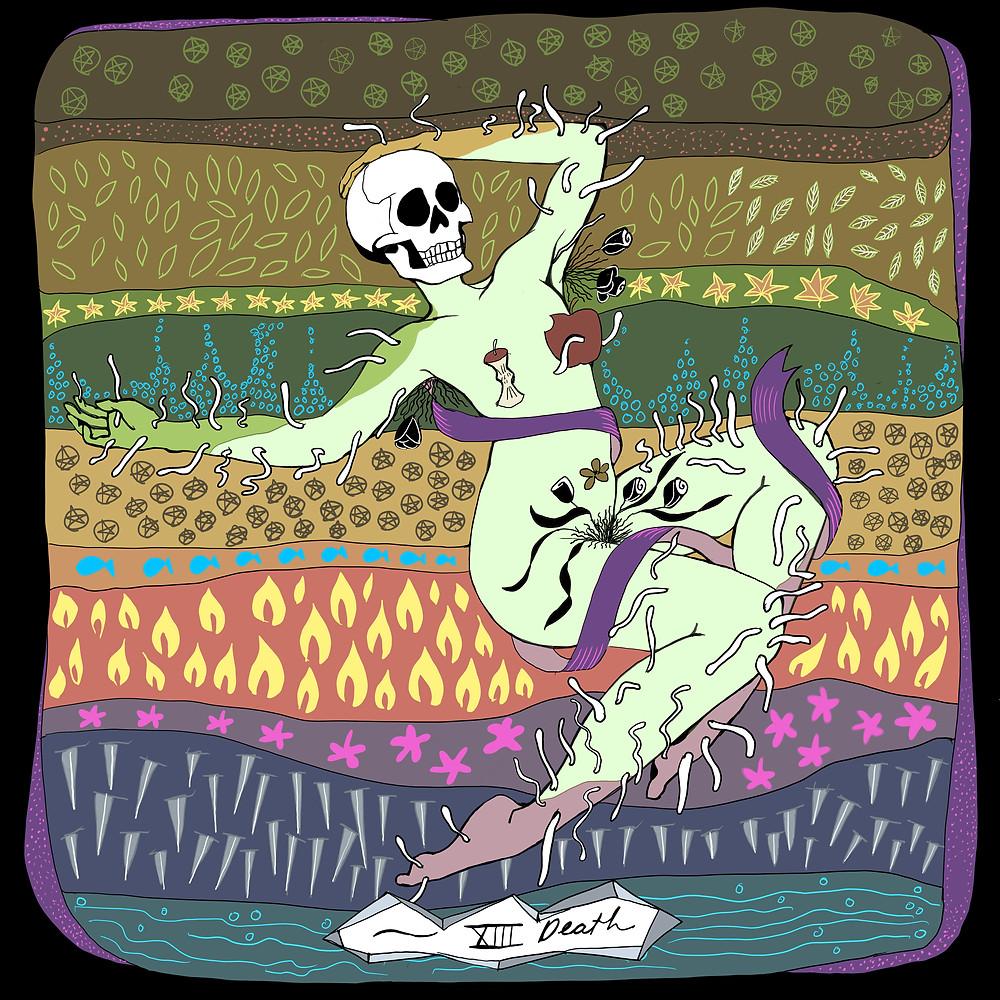 Death Tarot Card | Mother Tarot Deck by Wren McMurdo