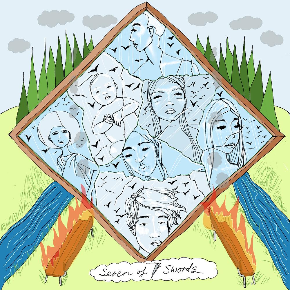 Seven of Swords | Mother Tarot Deck (releasing in 2020) by Wren McMurdo