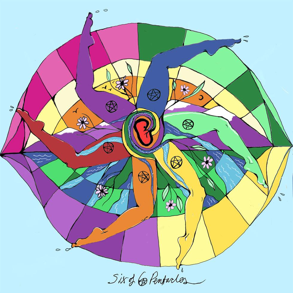 Mother Tarot Deck: Six of Pentacles