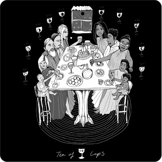 Ten of Cups - Minor Arcana Card