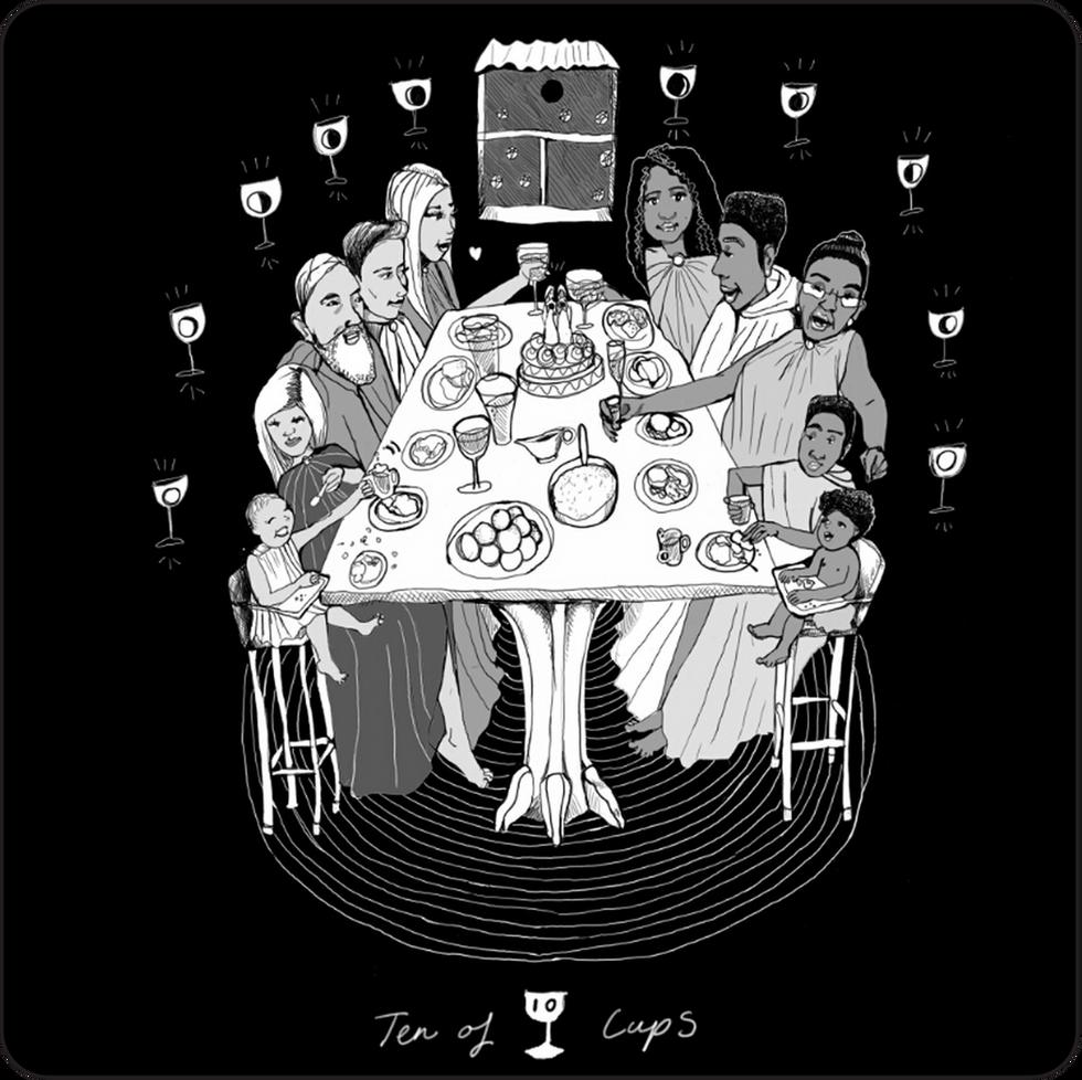 Ten of Cups - Minor Arcana Card