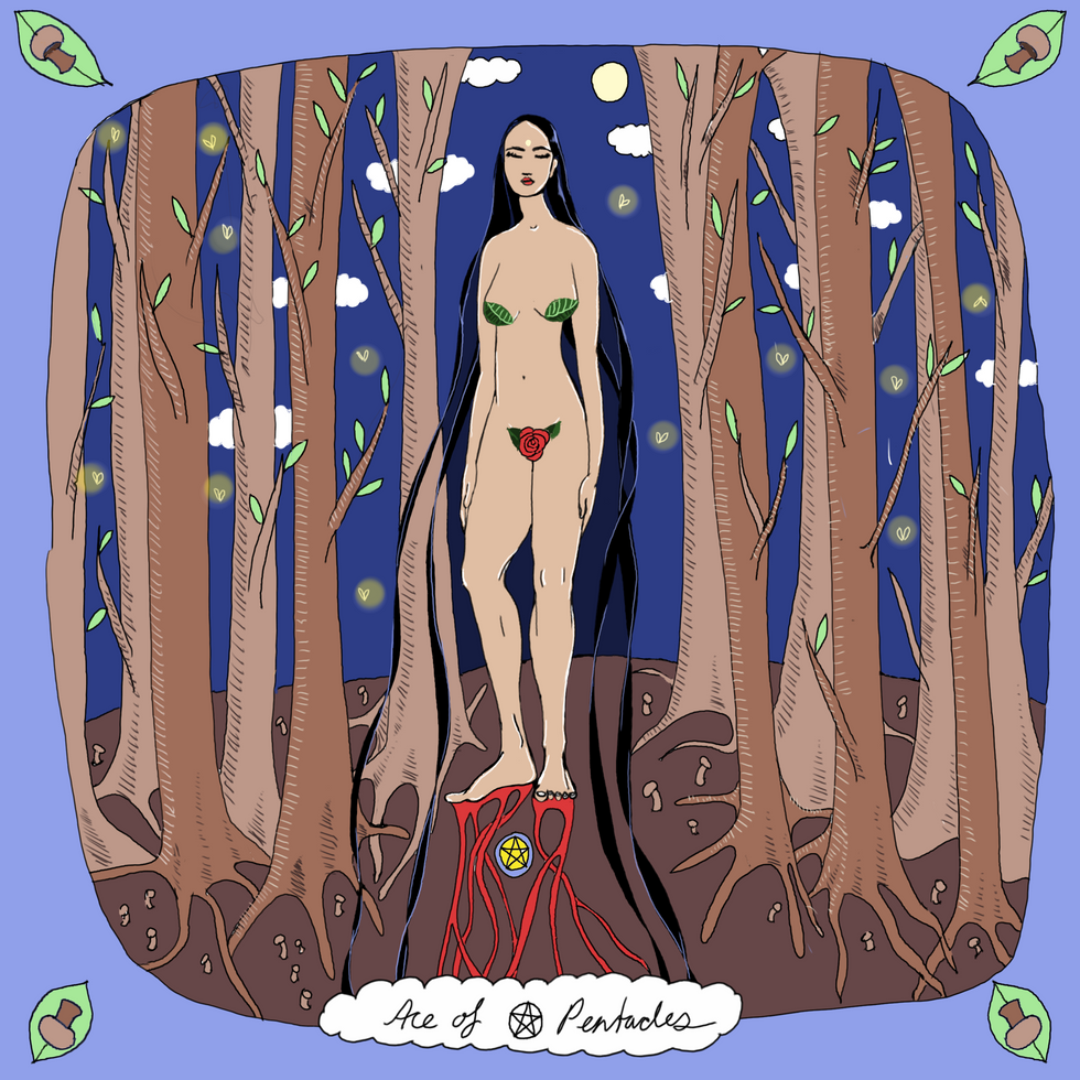 Mother Tarot Deck: Ace of Pentacles