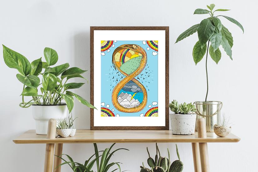 Infinity Snake Wall Art Print