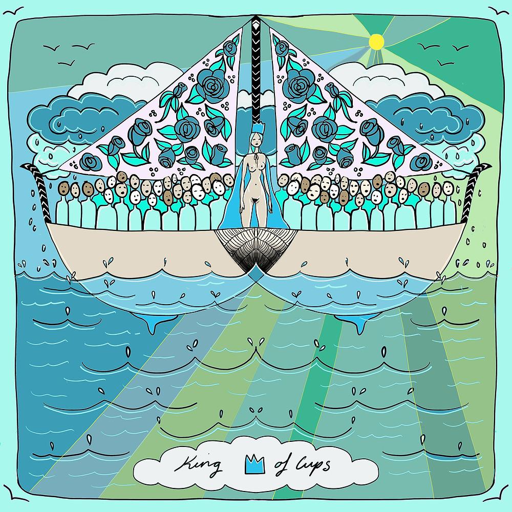 King of Cups | Mother Tarot Deck by Wren McMurdo Brignac