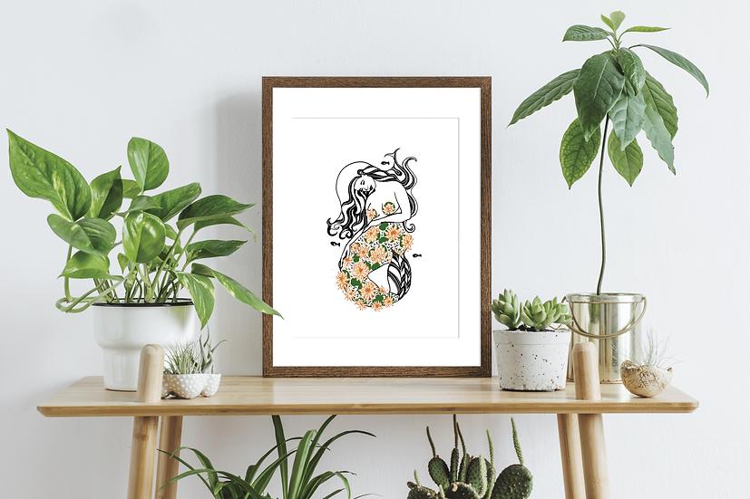 Pisces Zodiac Wall Art Print