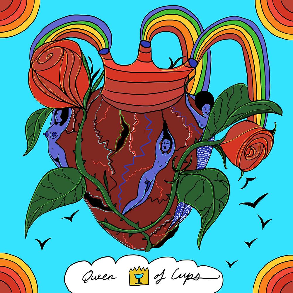 Queen of Cups | Mother Tarot Deck by Wren McMurdo