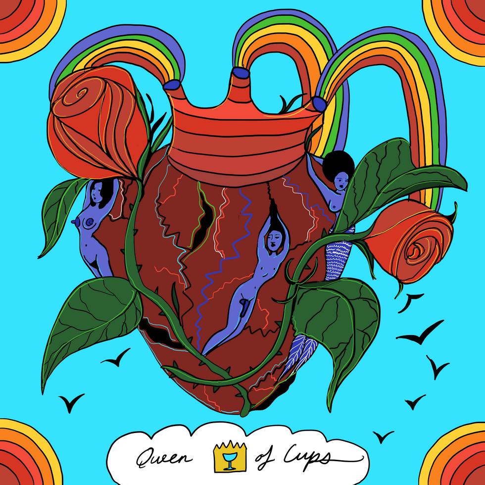 Mother Tarot Deck: Queen of Cups