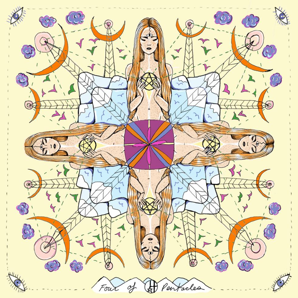 Mother Tarot: Four of Pentacles