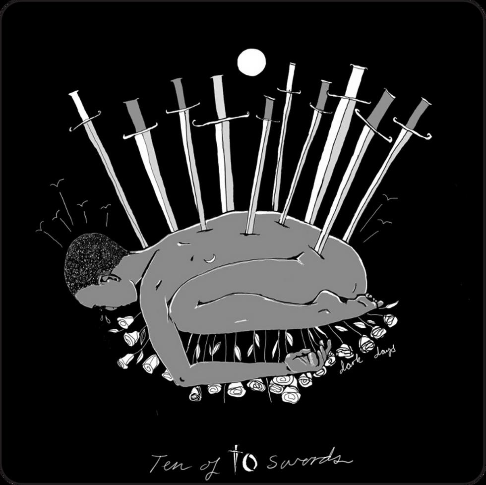 Ten of Swords - Minor Arcana Tarot Card