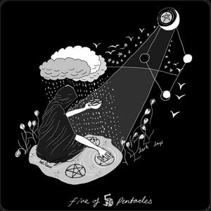 Five of Pentacles / Dark Days Tarot