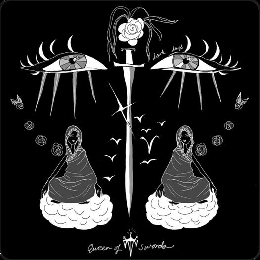 Queen of Swords - Minor Arcana Tarot Card