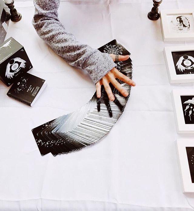 Wren McMurdo reads using Dark Days Tarot cards. Photo courtesy of the Vashon Center for the Arts