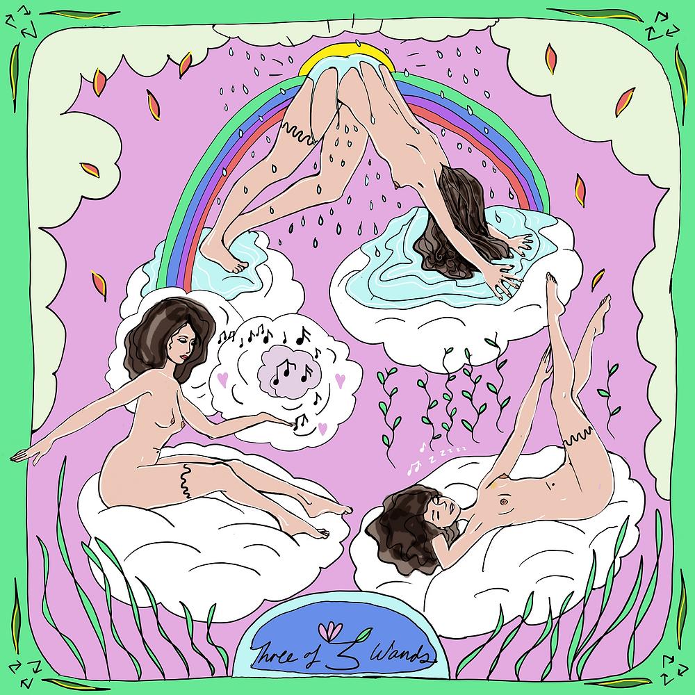 Three of Wands | Mother Tarot Deck by Wren McMurdo