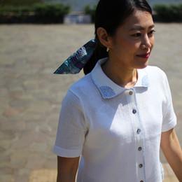 衿刺繍半袖カーディガン