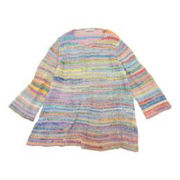 結び糸透かし編みプルオーバー