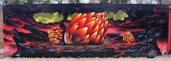 dragon eggs mural