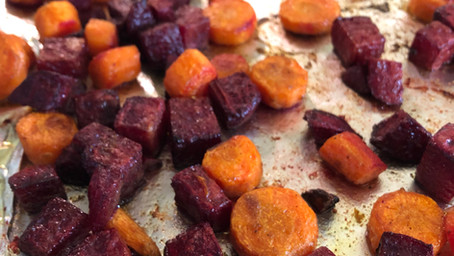 Curry Roasted Carrots & Beets