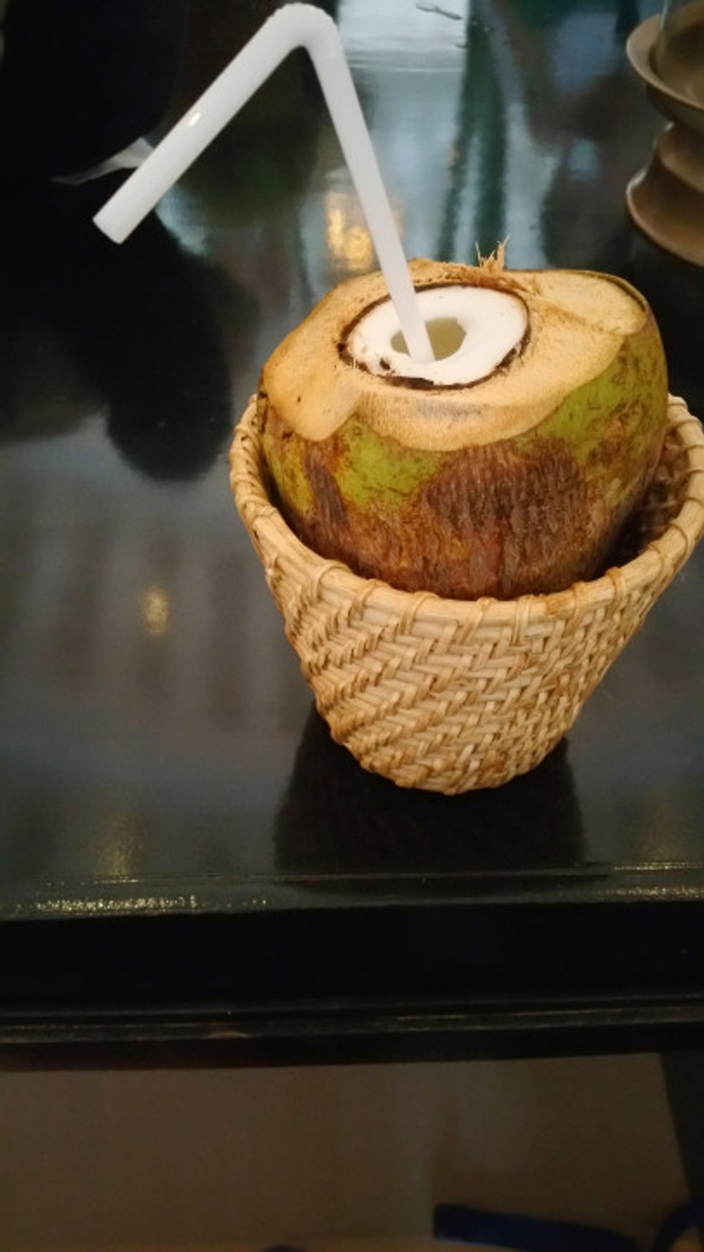 Oh yeah...also received a fresh coconut to drink from. Tasty!