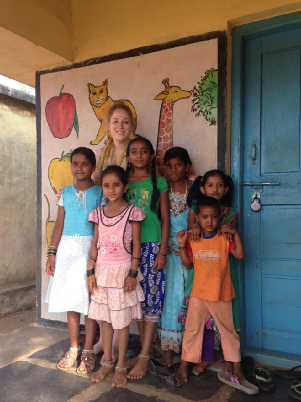 These girls loved us. The whole time we were they they wanted to play with us!