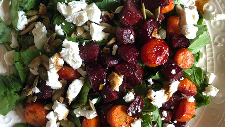 Roasted Vegetable Salad for One